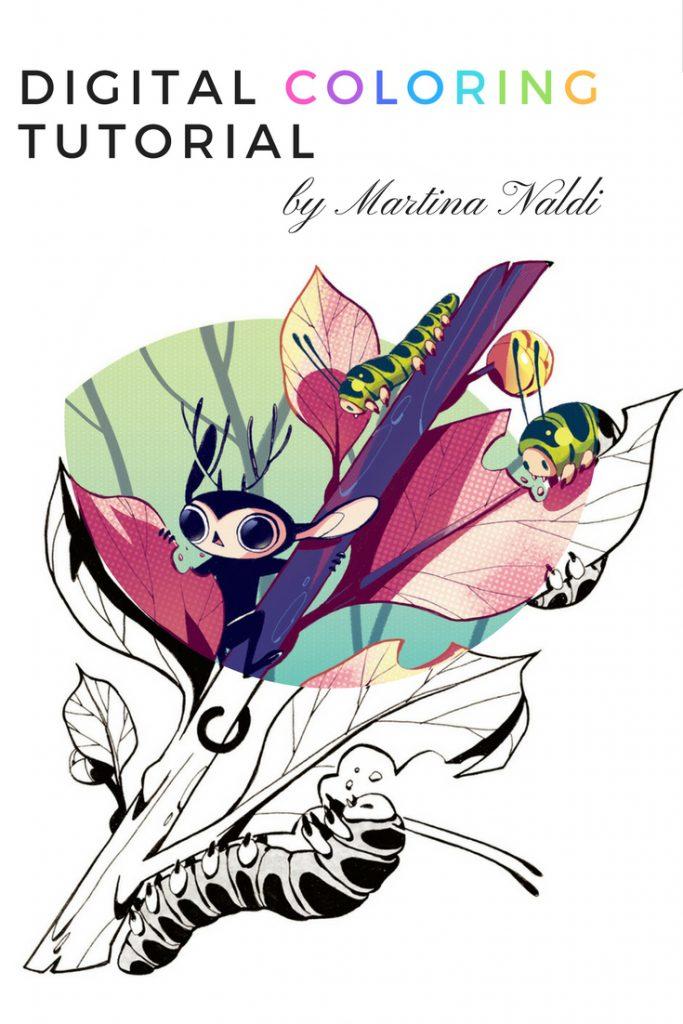 Digital Coloring Tutorial by Martina Naldi | digital art coloring ...