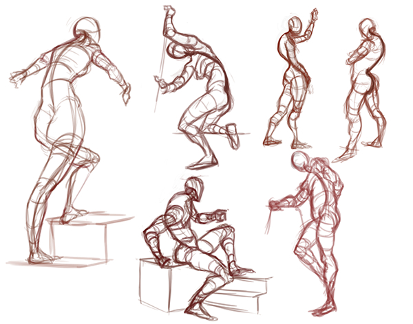 Drawing body gestures How To