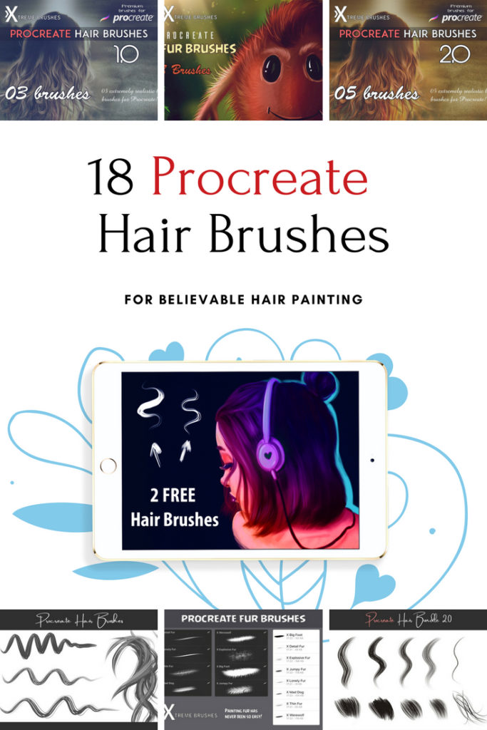 18 Procreate Hair Brushes for Believable Hair Painting – YourArtPath