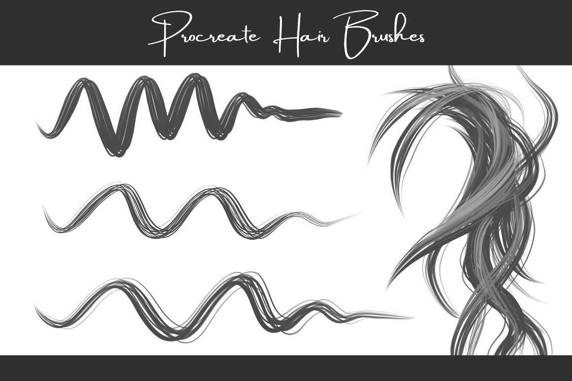 Free Curly Hair Procreate Brushes - Short Curly Hair